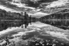 Lake Hope in black and white