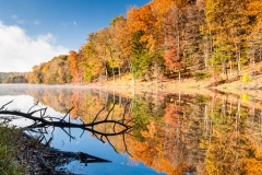 Rose Lake Reflection Brilliant Fall Color