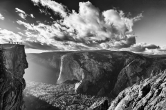 Yosemite Valley from Taft Point in B+W